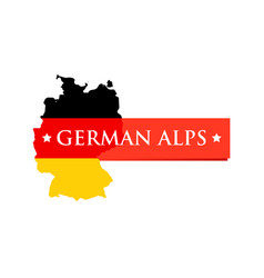 Logo of german alps vector