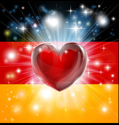 love germany flag heart background vector image