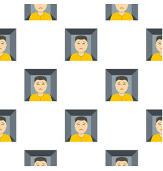 Man trapped in a box pattern seamless vector