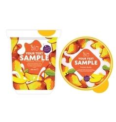 Mango Yogurt Packaging Design Template vector image