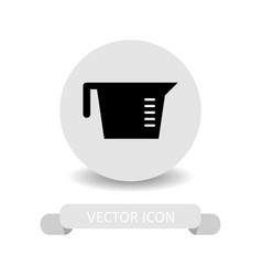 Measuring cup icon vector