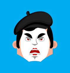 mime angry emotion avatar pantomime evil emoji vector image