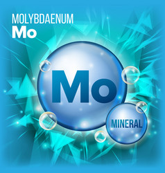 mo molybdaenum mineral blue pill icon vector image