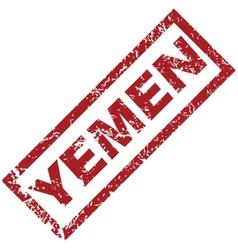 New Yemen rubber stamp vector