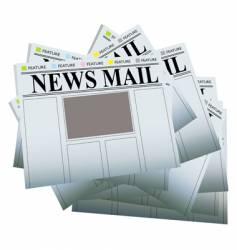 Newspaper pile vector