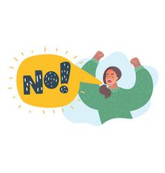 no furious screaming woman vector image
