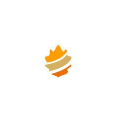 oak leaf stripe logo vector image