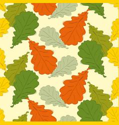 oak leaves vector image