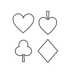 Playing card spade heart club diamond suit vector