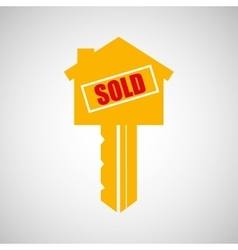 sale house home sold business vector image