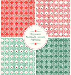 seamless abstract geometric holiday patterns vector image