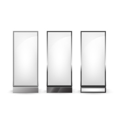 Set of Black White Poster Stands for Advertising vector
