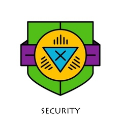Simple shields badges design Logo template vector