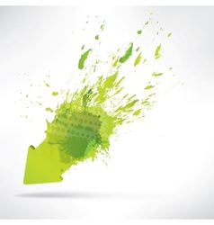 Splash on abstract background vector image