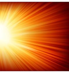 Stars descending on a path of golden light EPS 10 vector image