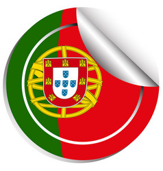 Sticker design for flag of portugal vector