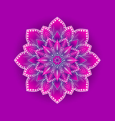 Stylized lotus flower on pink background vector