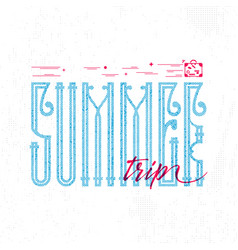 summer trip retro sign badge banner template vector image