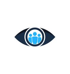 Team eye logo icon design vector