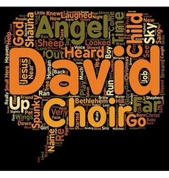 The Angel Child text background wordcloud concept vector