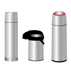 three thermos vector image