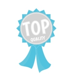 Top quality silver and blue ribbon simple flat vector