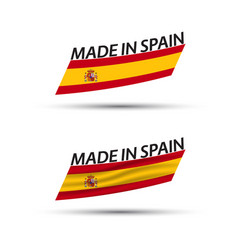 two modern colored spanish flags vector image