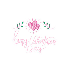 valentines day lettering background vector image