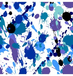 Watercolor splatters and blobs doodles Hand drawn vector image