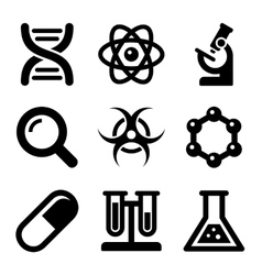 Chemical Science Icons Set vector image vector image
