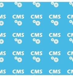CMS settings straight pattern vector image vector image