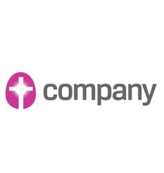 cross sign as religion logo vector image vector image