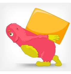 Funny Monster Delivery vector image