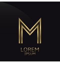 Golden M Letter vector image vector image