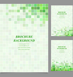 Green square tile mosaic brochure design vector image vector image