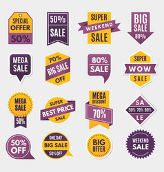 labels and tags with advertizing info for vector image