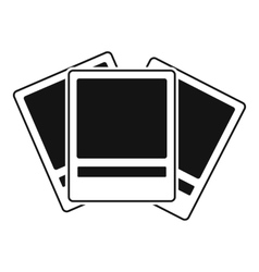 Photos icon simple style vector image