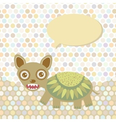 Polka dot background pattern Funny cute monster vector image vector image