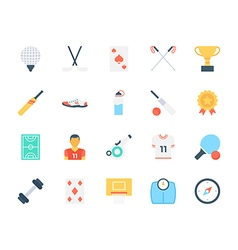 Sports Colored Icons 6 vector image vector image