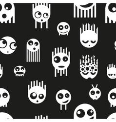 Cute ghost monsters seamless pattern vector