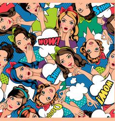 pop art style pattern vector image vector image