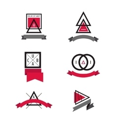 set of Minimal Geometric Modern Insignias vector image vector image