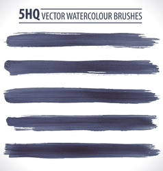 Set of watercolor brushes vector