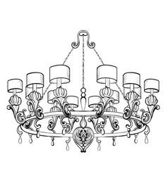 vintage baroque elegant chandelier luxury vector image