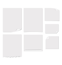 White blank page vector image