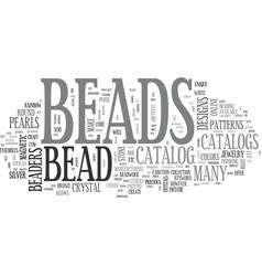 Bead catalog text word cloud concept vector