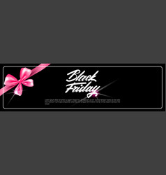 black friday poster holiday sale template vector image