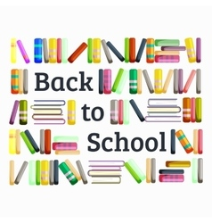 Books in public library back to school and vector image