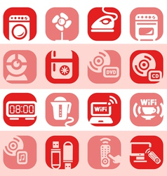 color electronic home devices icons vector image
