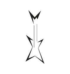 Electric guitar logo template vector image vector image